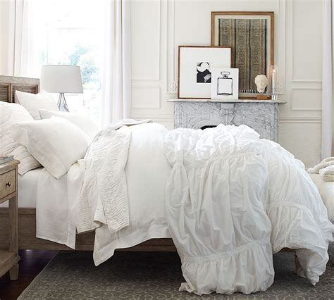 what is a sham for a bed 3 ways to make an all white bed pottery barn