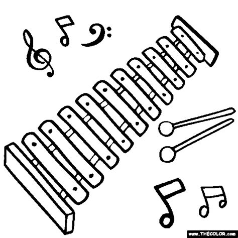 coloring pages xylophone xylophone coloring sheet coloring pages