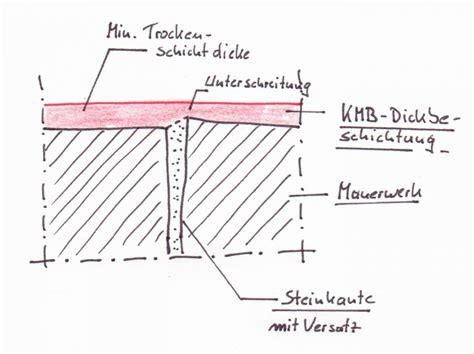 Horizontale Abdichtung Mauerwerk by Din 18195 Abdichtung Mit Kmb Svgs Saarland
