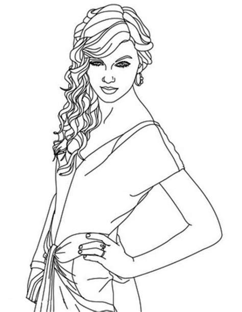 taylor swift coloring pages easy beautiful taylor swift coloring page famous people