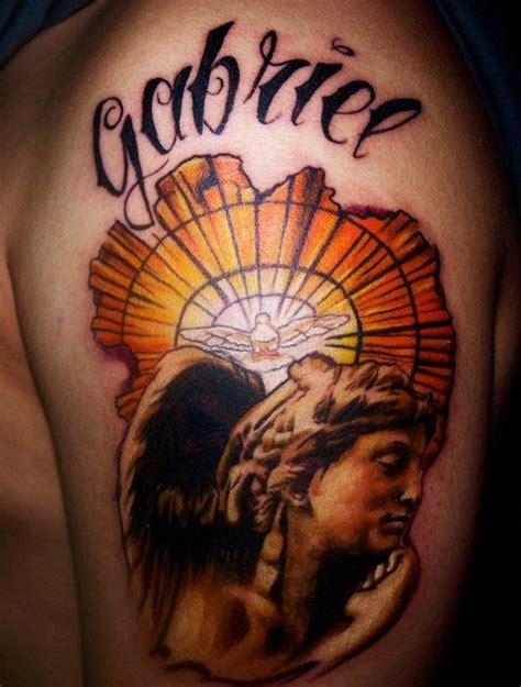 archangel gabriel tattoo designs gabriel color portrait by cesar perez tattoos