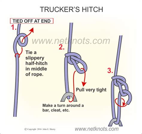quick boat knots truckers hitch how to tie a trucker s hitch