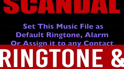don theme ringtone scandal main theme ringtone and alert youtube