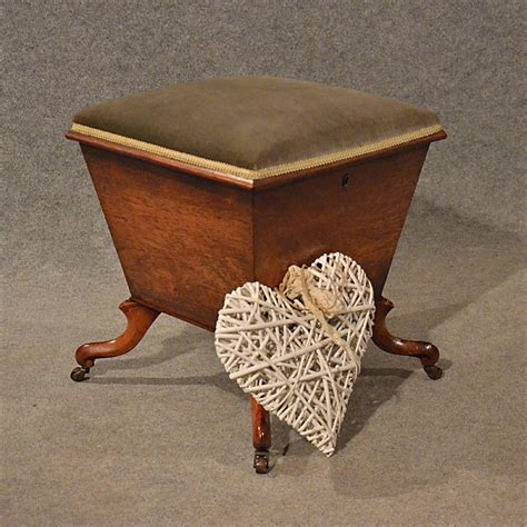 ottoman antiques antique ottoman dressing sewing ladies stool work