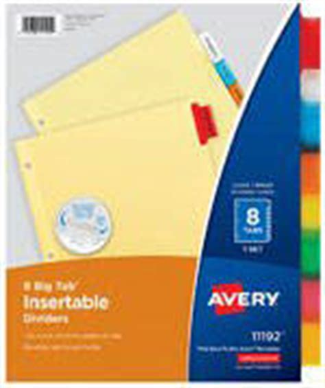 Cp Avery avery durable write on plastic dividers with erasable tabs 8 12 x 11 multicolor 8 tabs by office