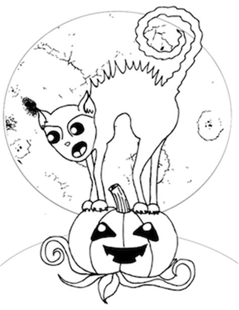 scary cats coloring pages scary cat coloring page