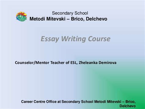 Essay Writing Course by Essay Writing Course V