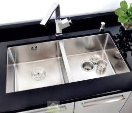 Two Sinks In Kitchen Drop In Bowl Kitchen Silver Sink Stainless Steel