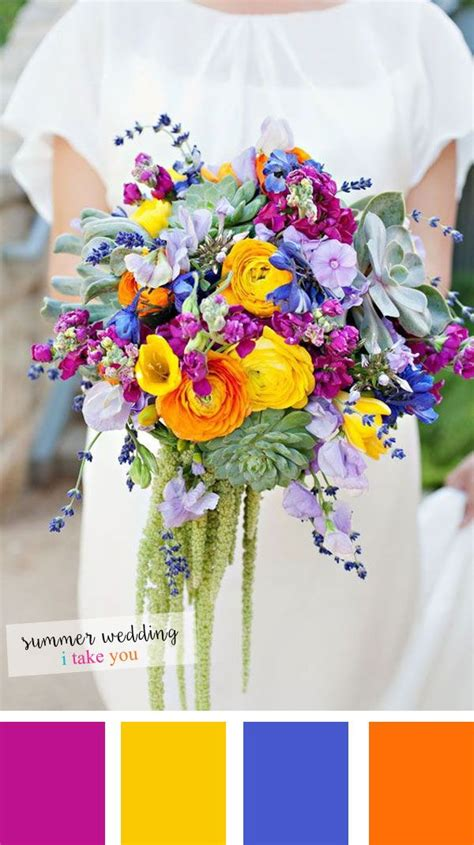 flowers by color summer wedding colours 10 fresh colour combinations for