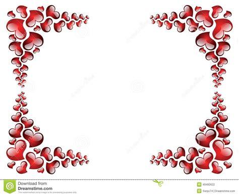 cornici per san valentino cornice al san valentino illustrazione vettoriale