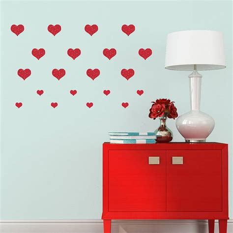 hearts wall stickers pattern hearts wall stickers by mirrorin notonthehighstreet