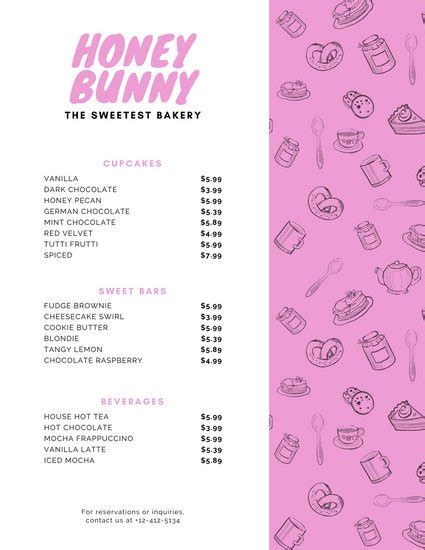 canva pricing customize 38 bakery menu templates online canva