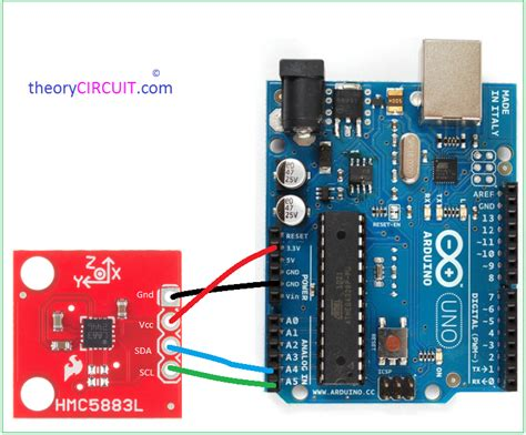 arduino code hmc5883l arduino hmc5883l magnetometer interfacing