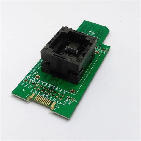 Plat Emmc Bga 5 In 1 emmc test socket to sd emmc adapter for nand flash testing for bga 169 and bga 153 size