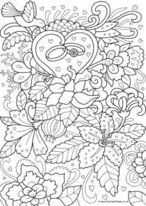 wedding cake colouring page 3