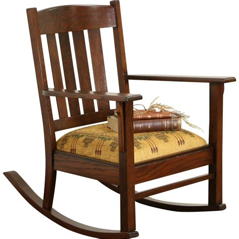 Ideas For Oak Rocking Chair Arts Crafts Mission Oak 1905 Antique Craftsman Rocking