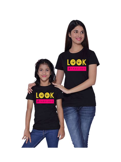 This Mother And Daughter Look Is Fabulous | look fabulous mother daughter matching t shirts combo