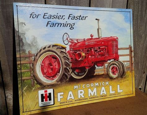 international harvester home decor farmall international harvester tin metal sign classic