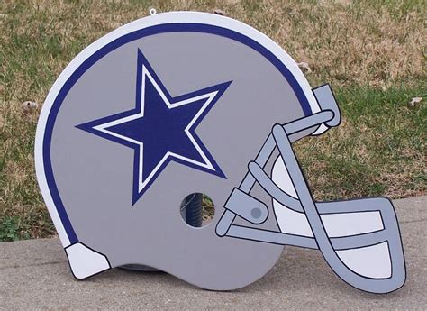 woodwork in football dallas cowboys realistic wood helmet decor sign how
