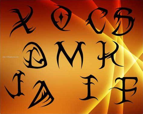 tribal alphabet letters  premium templates