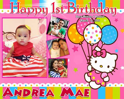 hello kitty themes for tarpaulin andrea mae 1st birthday hello kitty cebu balloons and