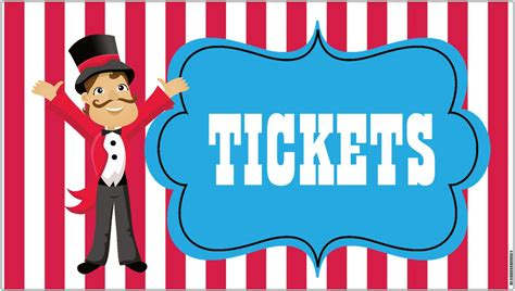 36x18 vinyl banner circus carnival tickets by
