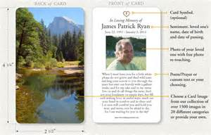 prayer cards for funerals memorial prayer cards