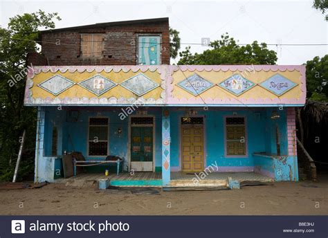 indian buying house indian houses in hazira village hazira near surat gujarat india stock photo