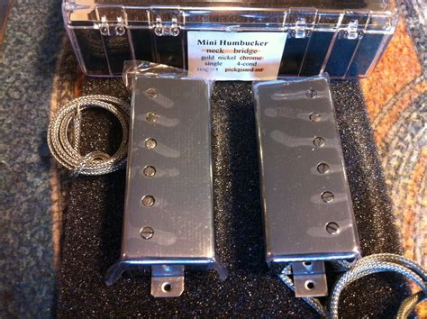 Mini Humbucker Set Chrome Lollar Mini Humbucker Set Chrome Pg Mount Kitarapaja
