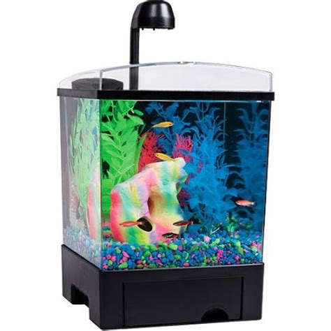 Glofish 29084 Aquarium Gravel Black Glofish 1 5 Gallon Aquarium Kit Jet