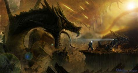 dragon monster fantastic world sci fi fantasy wallpaper