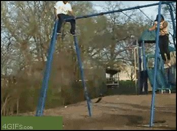 people falling off swings hell naw