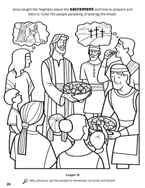 coloring pages lds sacrament jesus institutes the sacrament among the nephites