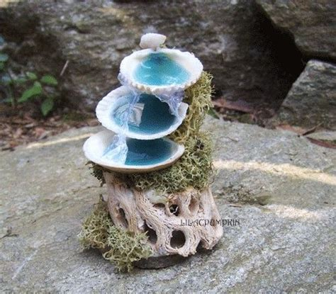 fairy garden miniature fieldstone fountain mermaid doll house miniature by lilacpumpkin 30 00 aquarian ubiquity in