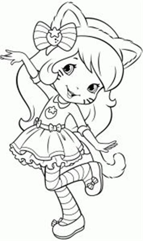cat costume coloring page strawberry shortcake character kolorowanki pinterest