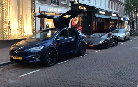 Lamborghini X by This Tesla Model X A Lamborghini S Thunder