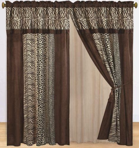 animal print window curtains animal print curtains ebay