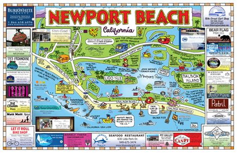 where is newport california on the map maps usa