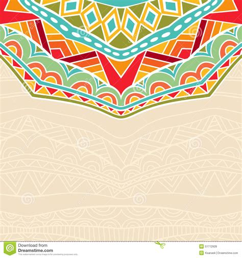 africa vector traditional background pattern fond avec l ornement africain illustration de vecteur