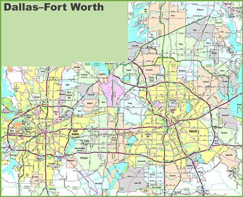 printable map dallas fort worth metroplex map of dallas fort worth area pictures to pin on pinterest