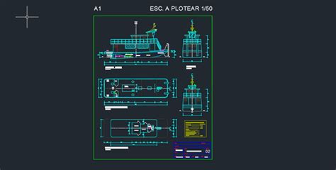 tugboat free dwg 187 cadsle - Tugboat Dwg