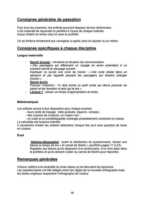 CEB 2009 - Consignes de passation et de correction by Mon