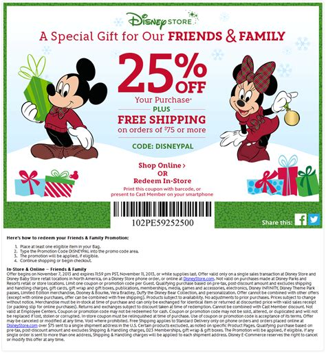 disney outlet printable coupons disney store coupons 25 off at disney store or online