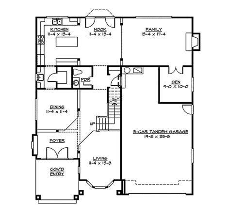 Pevensey Craftsman Home Plan 071d 0127 House Plans And More | pevensey craftsman home plan 071d 0127 house plans and more