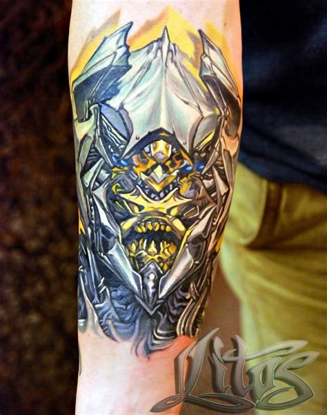 transformers tattoos megatron by litos tattoonow