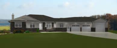 ranch house plans with basement 3 car garage