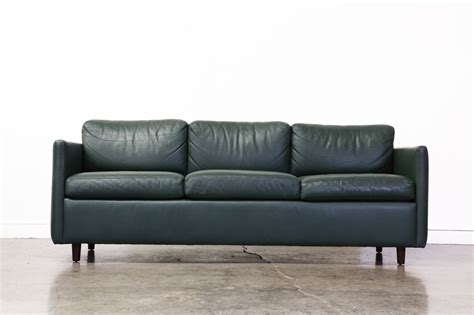 vintage teal green leather sofa vintage supply store