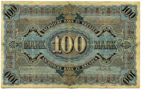 deutsche bank geldautomat dresden banknoten einhundert 100 2 januar 1911