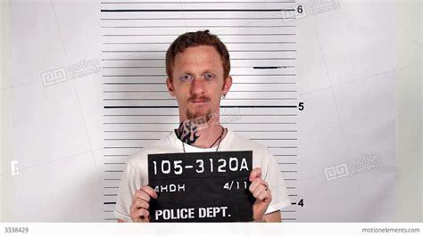 Criminal Arrest Record Criminal Mugshot Stock Footage 3338429