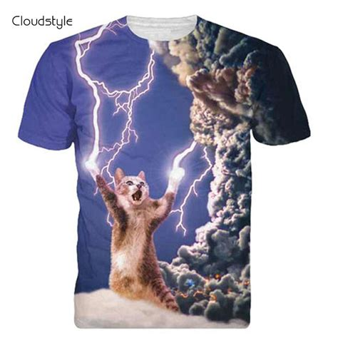 Kaos Thundercat 2017 brand clothing 3d t shirt thunder cat design